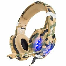 Auriculares para Juegos Profesional Micrófono Luz LED PS4 PC Portátil Smartphone
