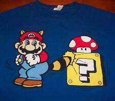 NINTENDO SUPER MARIO BROS. 3 Raccoon Tail Mario T-shirt SIZE YOUTH SMALL Wii U