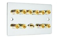 CROMATO LUCIDO suono surround 5.1 Speaker Wall Face PLATE GOLD Binding Post