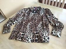 V By Very Size 10 Brown Animal  Print Blouse.             b