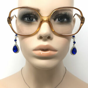 Vintage Terri Brogan 8814 Eyeglasses Clear Amber Optical Glasses Frame Retro