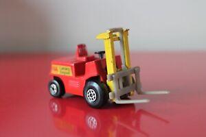 "Matchbox 2.5"" Red FORK LIFT TRUCK Diecast Toy Model 1972 VINTAGE No:15"