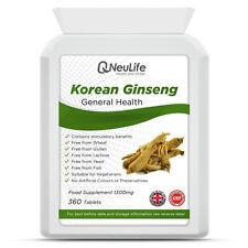 Korean (Panax) Ginseng 1300mg - 360 Tablets