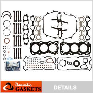 Fit 03-04 Infiniti FX35 G35 Nissan 350Z 3.5L Full Gasket Set+Head Bolts VQ35DE