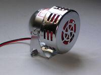 motor sirene chrome alarme 12v a galet siren auto moto galvaniser alarm