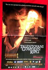 The Talented Mr. Ripley 1999 1Sh Matt Damon Gwyneth Paltrow Exyu Movie Poster