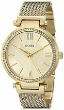 Guess Mujer Reloj Oro Chain Pulsera Bracelet Crystal Gold Woman Watch Stone Hand