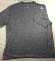 Mens Reebok Black & Gray Short Sleeve Speedwick Jersey 2XL