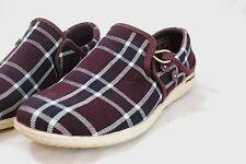 Patagonia Kula Button Shoes Womens 6.5 Wine Tasting Plaid Purple Canvas Sneakers
