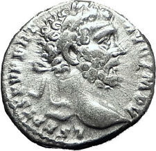 SEPTIMIUS SEVERUS 193AD Authentic Ancient Silver Roman Coin MARS WAR  i60410