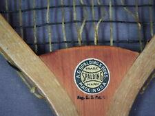 Beautiful Vintage 1900s Spalding Tennis Racquet - Oval Model- Laminate Wedge