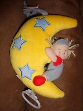 "Moon Stars Boy Baby Infant Musical Hanging Stuffed Plush 7"" Crib Pull AMEK Toy"
