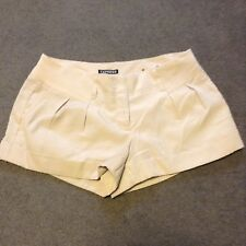 Express Women's Shorts Size 4 Khaki Ivory Mini Bottoms