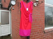 Coast Dress Size 16- Red Carlton Colour Block Dress RRP £85