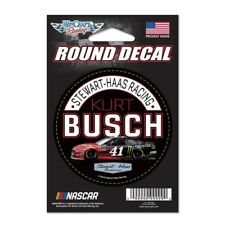 "Kurt Busch 2018 Wincraft #41 Haas Automation Round Decal 3"" FREE SHIP"