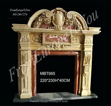 WONDERFUL HAND CARVED MARBLE FIREPLACE MANTLE