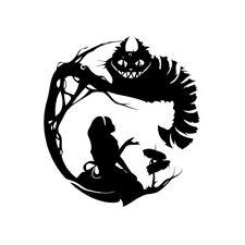 Aufkleber Bild Alice im Wunderland Grinsekatze Cheshire Katze Tim Burton KLEINER
