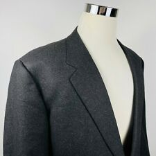 Corneliani Italy Mens 46R Sport Coat Charcoal Gray 100% Wool Two Button Lined