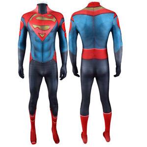 Superboy Jonathan Kent Jumpsuit Cosplay Costume For Adult & Kids Halloween Cos