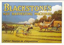 ROBERT  OPIE  ADVERTISING  POSTCARD  -  BLACKSTONE'S  HAY  HARVESTING  MACHINES