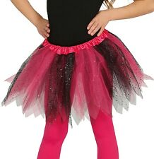 Girls Glittery Fancy Dress Tutu Dance Halloween Witch Devil Pumpkin 5 Colours