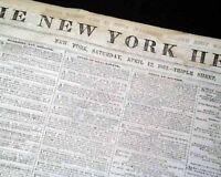 SIEGE OF YORKTOWN w/ 1781 Virginia Battle MAP & More Civil War 1862 Newspaper