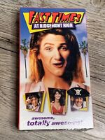 """Fast Times At Ridgemont High"" VHS Movie (1999) Funny Comedy Sean Penn BRAND NEW"