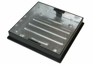 CLARK DRAIN BLOCK PAVING SQUARE TO ROUND MANHOLE COVER 450MM X 80MM CD 450SR