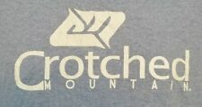 Crotched Mountain New Hampshire Skiing T-shirt Mens XL Tee Gray Blue EUC A04