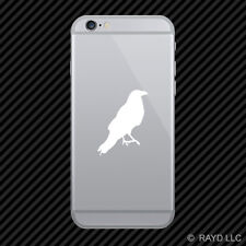 (2x) Crow Cell Phone Sticker Mobile raven blackbird many colors