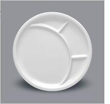 6 Stück Fondueteller Speiseteller Antipasti Vorspeisen 27cm Porzellan weiß