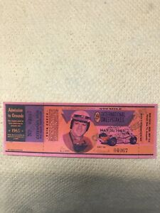 1965 Indianapolis Indy 500 Full Ticket Complimentary Employee AJ Foyt