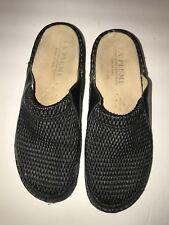 La Plume Leather Flex Clog Shoes Black Comfort Clog Sz 39 Size 8/8.5