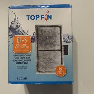 NEW Top Fin EF-S Element Filter Cartridges (6 Count) for Fish Tank Aquarium