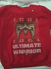Ultimate Warrior WWE Ugly Christmas Mens Sweater Sweatshirt Sz Large
