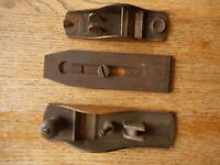 planer parts 3 pcs Vintage Antique workshop wood carpenter tools Toolbox find