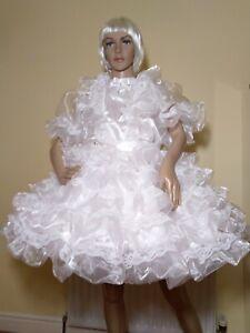 Sissy White Organza and Satin Dress