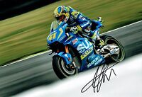 Aleix ESPARGARO SIGNED 12x8 Autograph 2016 Photo Suzuki MOTOGP Rider AFTAL COA