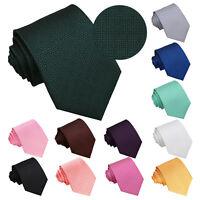 Mens Tie Woven Geometric Greek Key Wedding Necktie FREE Pocket Square by DQT