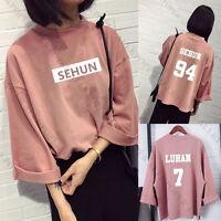 Kpop EXO Sweater Hoodie Women Pullover Sweatershirt Baekhyun Chanyeol Outwear