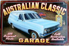 HOLDEN HR VAN 1967 AUSTRALIAN CLASSIC.GOLDEN FLEECE GARAGE ALL WEATHER TIN SIGN