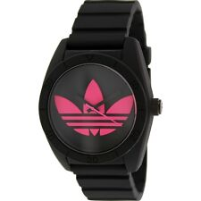 Adidas Women's ADH2878 Santiago Pink Black Silicone Analog Quartz Watch