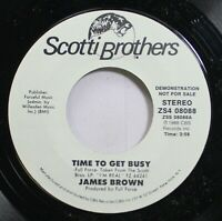 Soul Promo Nm! 45 James Brown - Time To Get Busy / Time To Get Busy On Scotti Br