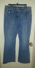 Premium Denim Lydia Bootcut Jeans with Rhinestone Buttons ~ Size 12