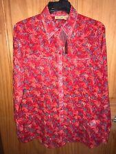 Wrangler Womens Country Western Red Print Chiffon Shirt Lw4113r Nwt