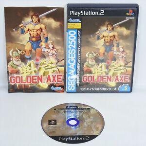 GOLDEN AXE Sega Ages 2500 PS2 Playstation 2 For JP System 2389 p2