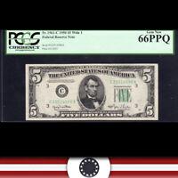 1950 $5 PHILADELPHIA FRN Federal Reserve Note PCGS 66 PPQ Fr 1961-C  C22514596A