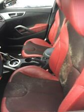 12 13 14 15 Hyundai Veloster Red Cloth and Leather Seats