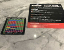 Large and Small Never Split 10's Blackjack + Casino Table Game Strategy Card