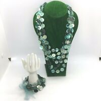M&S Green  Necklace and Bracelet Set